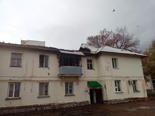 Дом в Салавате после пожара